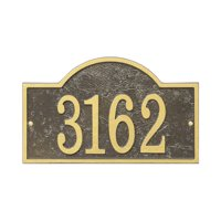 Personalized Whitehall Products Fast & Easy Arch House Numbers Plaque in Green/Gold
