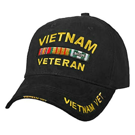 c03a0a5afa4e7 Buy Caps and Hats - VIETNAM VETERAN Baseball Cap Military Vet Mens Black Hat  - Walmart.com
