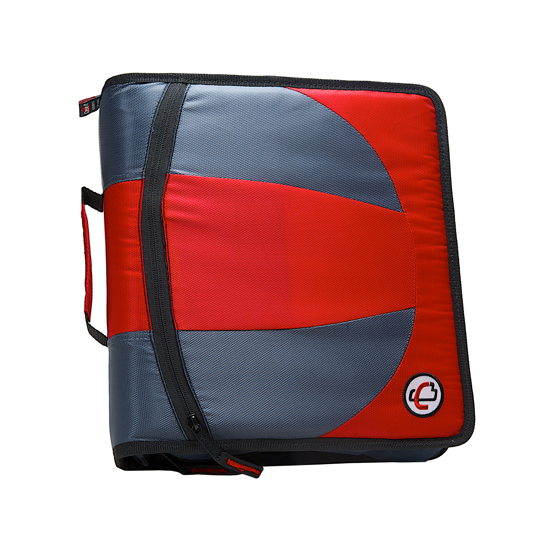 Case it dual d ring zip binder, 2 sets of 1.5-inch rings, red