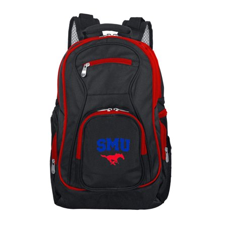 Computer Mustang - NCAA Southern Methodist Mustangs Premium Laptop Backpack with Colored Trim
