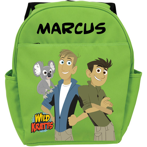 Personalized Wild Kratts Koala and Kratt Brothers Green Youth Backpack
