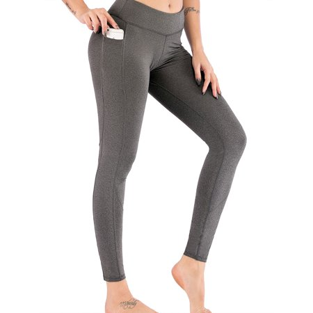 Women Fitness Yoga Leggings Workout High Waist Pockets Hip Push Up Running Jogging Gym Exercise Seamless Sports Pants (Sexy Exercise)