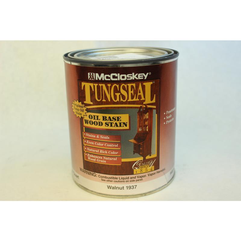 Walnut, Oil Base Wood Stain, 32Oz McCloskey Spray Paint 1937 Walnut 012027193726
