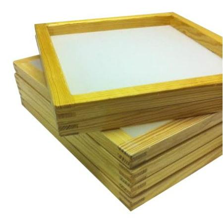 6 Wood Silkscreen Frames 20 X 24 (OD) (230 mesh) White or yellow - Frame 230 Mesh