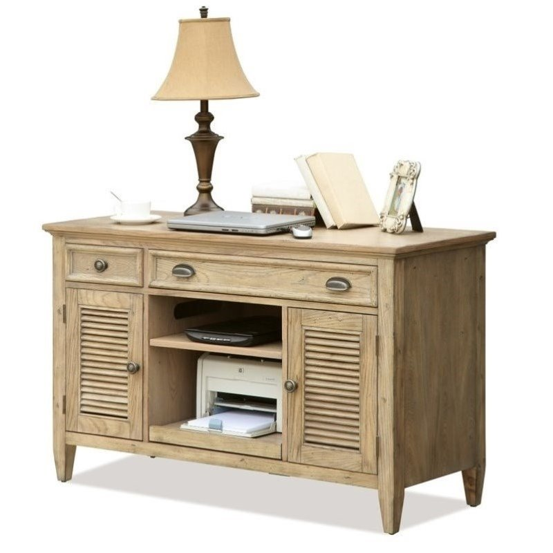 Beaumont Lane Credenza Desk in Weathered Driftwood
