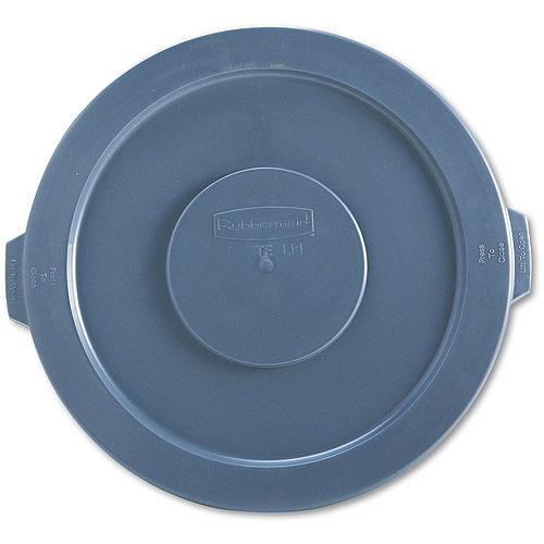 Rubbermaid Commercial Round Gray Brute Lid For Waste Containers, 32 gal