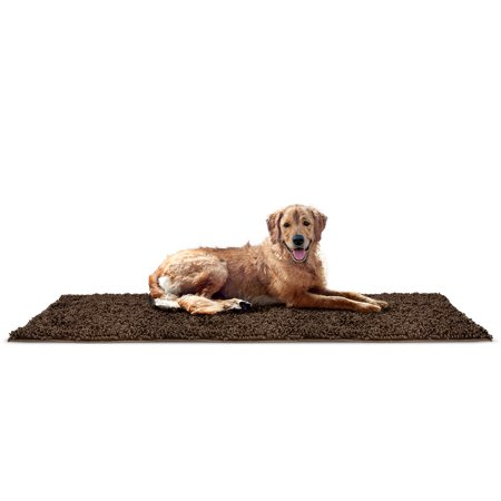 FurHaven Pet Dog Mat | Muddy Paws Towel & Shammy Rug, Mud, Runner