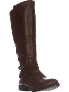 Womens SC35 Madixe Wide-Calf Riding Boots, Cogna