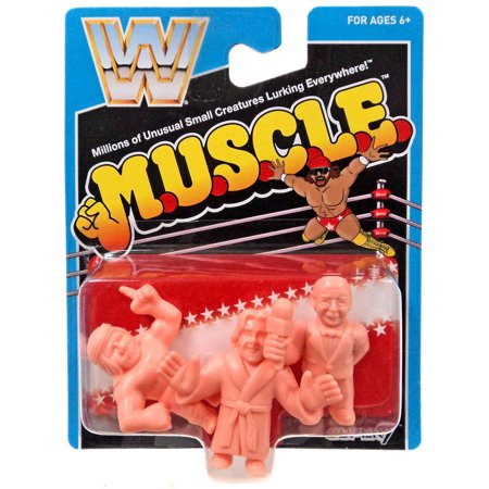 M.U.S.C.L.E. WWE Wreslting Mean Gene, Iron Shiek & Ric Flair 3-Pack](Ric Flair Robe)