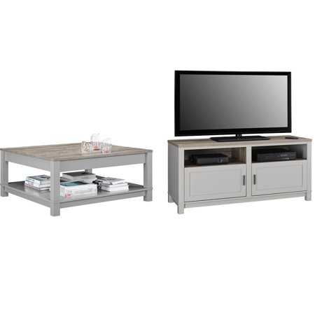 Better Homes and Gardens Langley Bay TV Stand with Better Homes and Gardens Langley Bay Coffee Table, Multiple Colors (Coffe Table Stand)