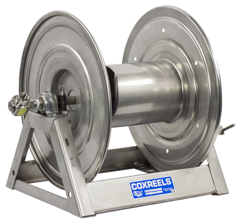 """COXREELS 1125-5-100-SP Stainless Steel Hand Crank Hose Reel 3 4"""" x 100ft no hose by Coxreels"""