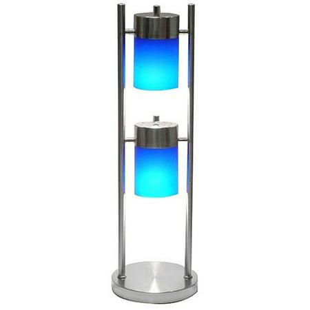 Ore International 2 Light Adjustable Table Lamp  Blue