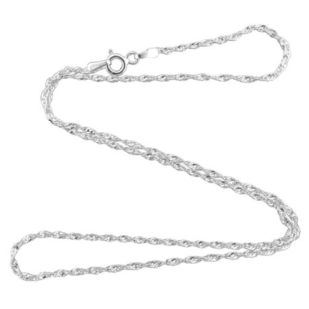 Sterling Silver SERPENTINE Rope Chain Necklace 925 Italy 16