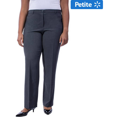 George Women's Plus-Size Think Slim Tummy Slimming Career Pant with Power Mesh Liner, Available in Regular and Petite Lengths