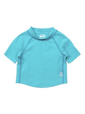 i play. Baby Toddler Boy or Girl Unisex Short Sleeve Rashguard Swim Shirt