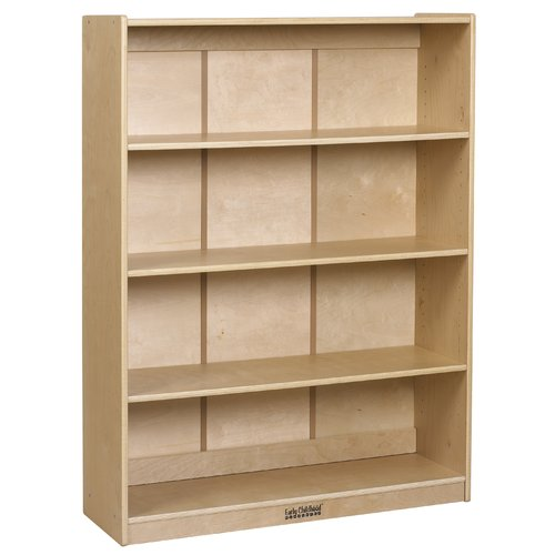4 Shelf Bookcase Birch in Natural Finish by Early Childhood Resources
