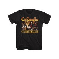 Cinderella Rock Band Dudes Rock & Roll Forever Adult T-Shirt Tee