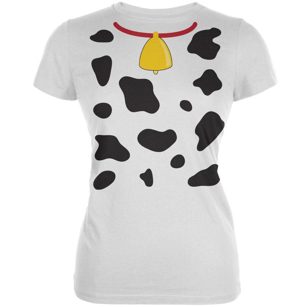 Halloween Cow Costume Juniors T-Shirt