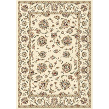 Dynamic Rugs AN69573656464 Ancient Garden 5 ft. 3 in. x 7 ft. 7 in. 57365-6464 Rug - Ivory/Ivory - image 1 of 1