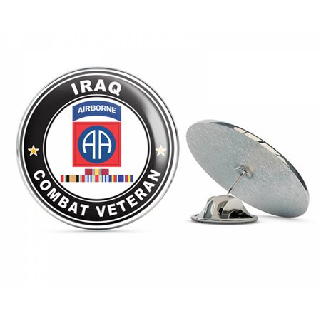 - US Army 82nd Airborne Division Iraq with GWOT Ribbons Combat Veteran Metal 0.75