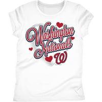 Washington Nationals Girls Short Sleeve Graphic Tee