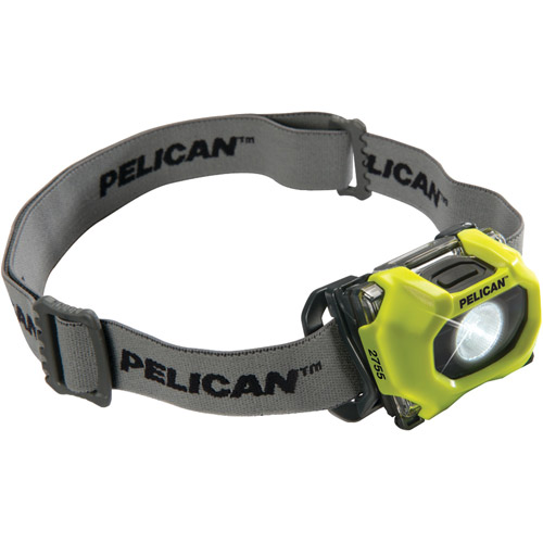 Pelican 027550-0100-245 72-Lumen 2755 Safety Approved 3-Mode LED Headlight, Yellow