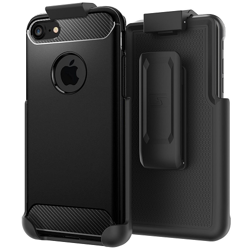 "Belt Clip Holster for Spigen Rugged Armor - iPhone 8 (4.7"") (case not included) by Encased"