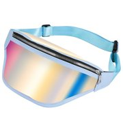 MUNDAZE HOLOGRAPHIC CROSSBODY CHEST BACKPACK WAIST BAG