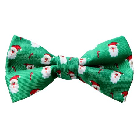 Spring Notion Boy's Printed Microfiber Christmas Theme Bow Tie - Spring Prom Themes