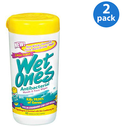 Wet Ones Antibacterial Citrus Scent Canisters 40 ct (Pack of 2)