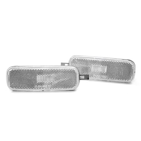 CRYSTAL CLEAR FRONT FENDER SIDE MARKER LIGHTS FOR 89-94 NISSAN 240SX S13