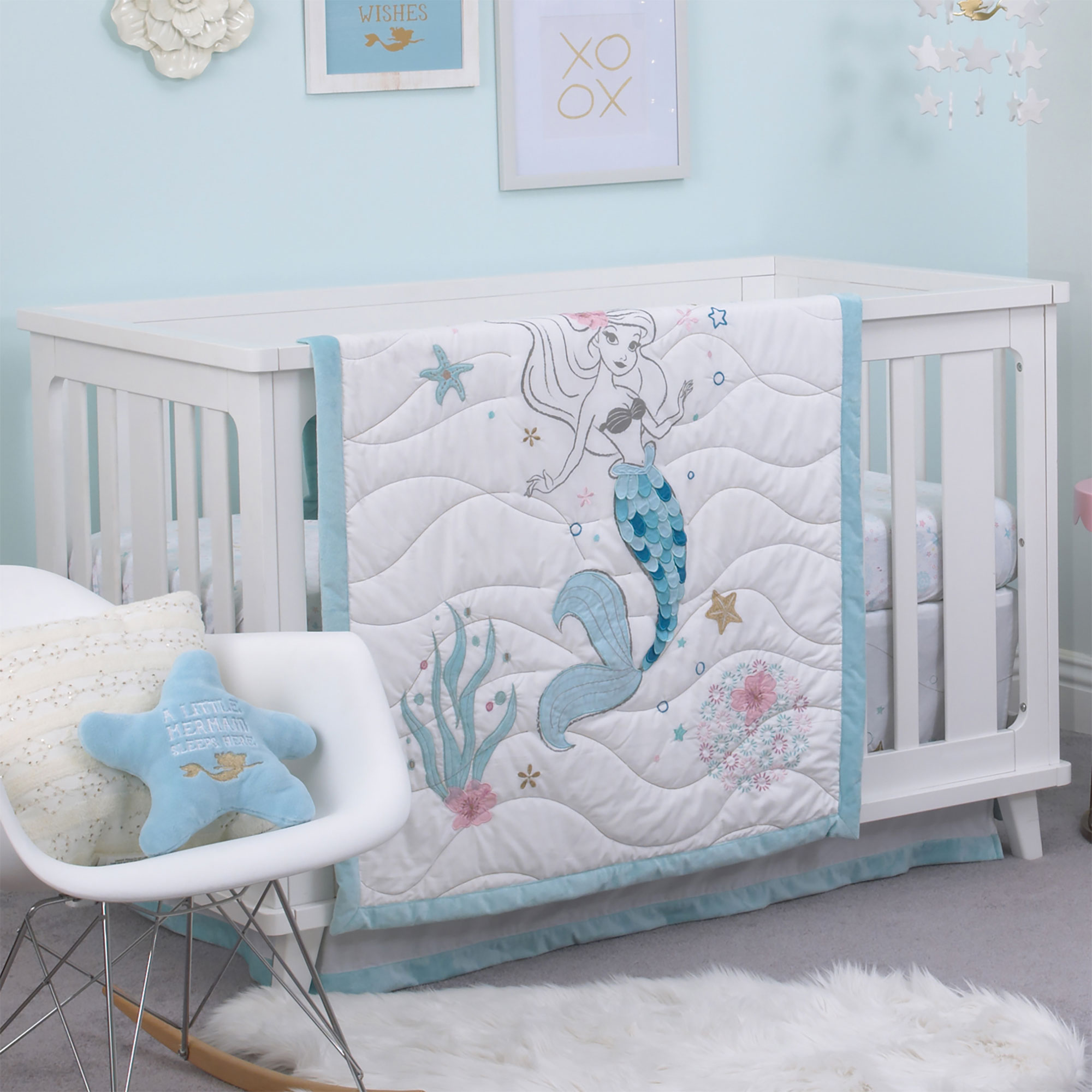 Baby Girl Crib Bedding Set By Disney Ariel Sea Princess