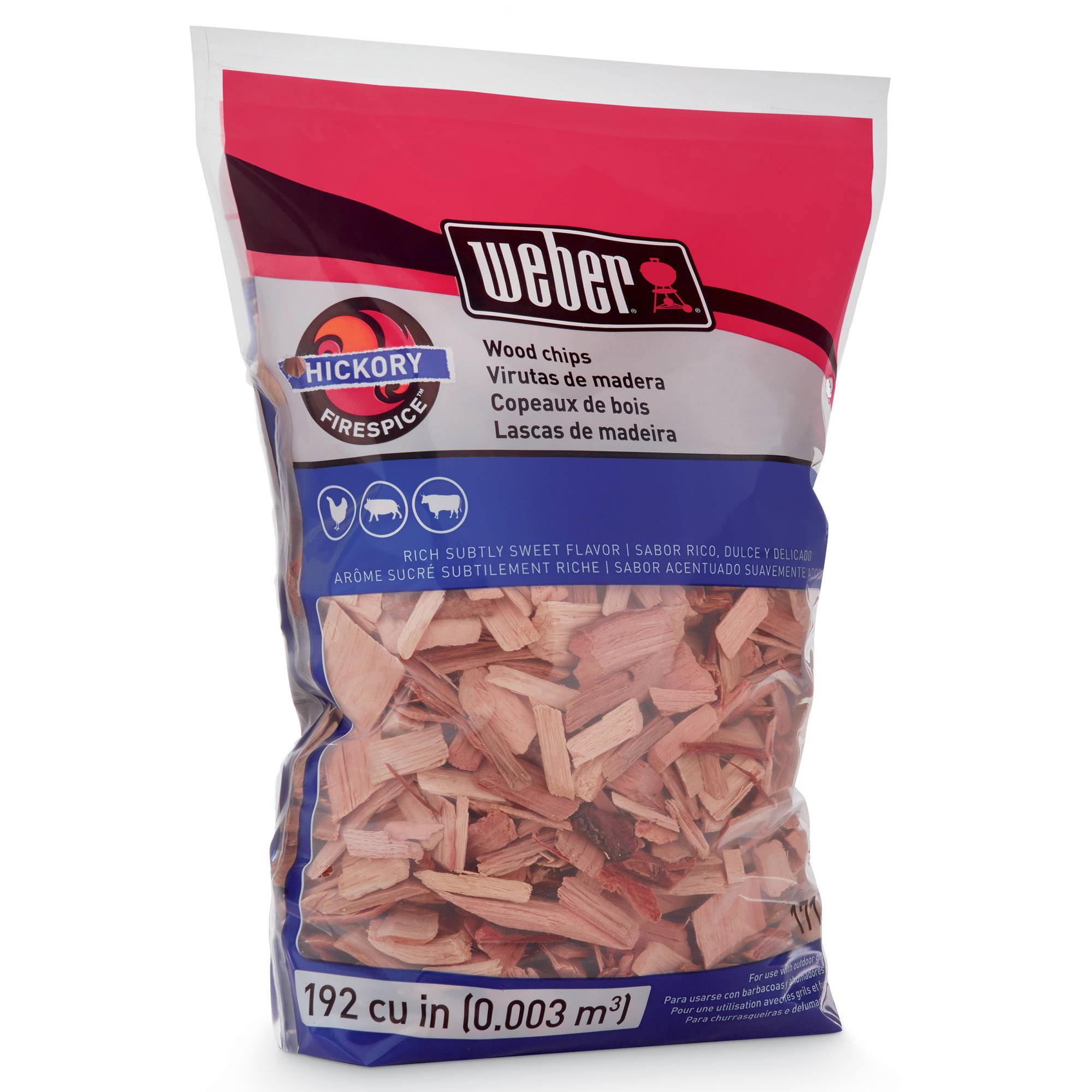 HICKORY WOOD CHIPS Barbeque Wood Flavors Wood Smoking Chips 192 CUBIC INCH