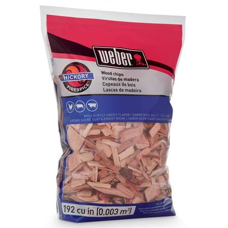Best Weber Hickory Wood Chips, 192 Cu. In. bag deal