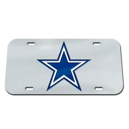Dallas Cowboys WinCraft Crystal Mirror License Plate - Silver - No Size