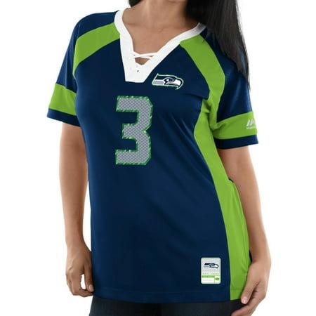 Russell Wilson Seattle Seahawks Women's Majestic NFL