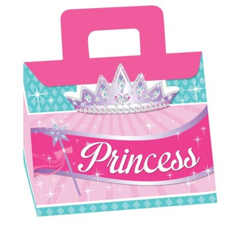 Club Pack of 48 Princess Party Tent Shaped Cookie and Candy Treat Boxes