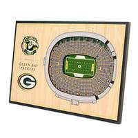 Green Bay Packers 14'' x 10.5'' 3D StadiumViews Desktop Display - No Size