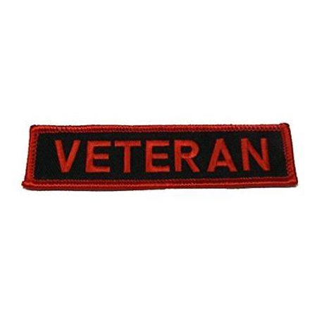 VETERAN NAME TAPE STYLE PATCH MILITARY SERVICE ARMY NAVY AIR FORCE MARINE (Nme Air)
