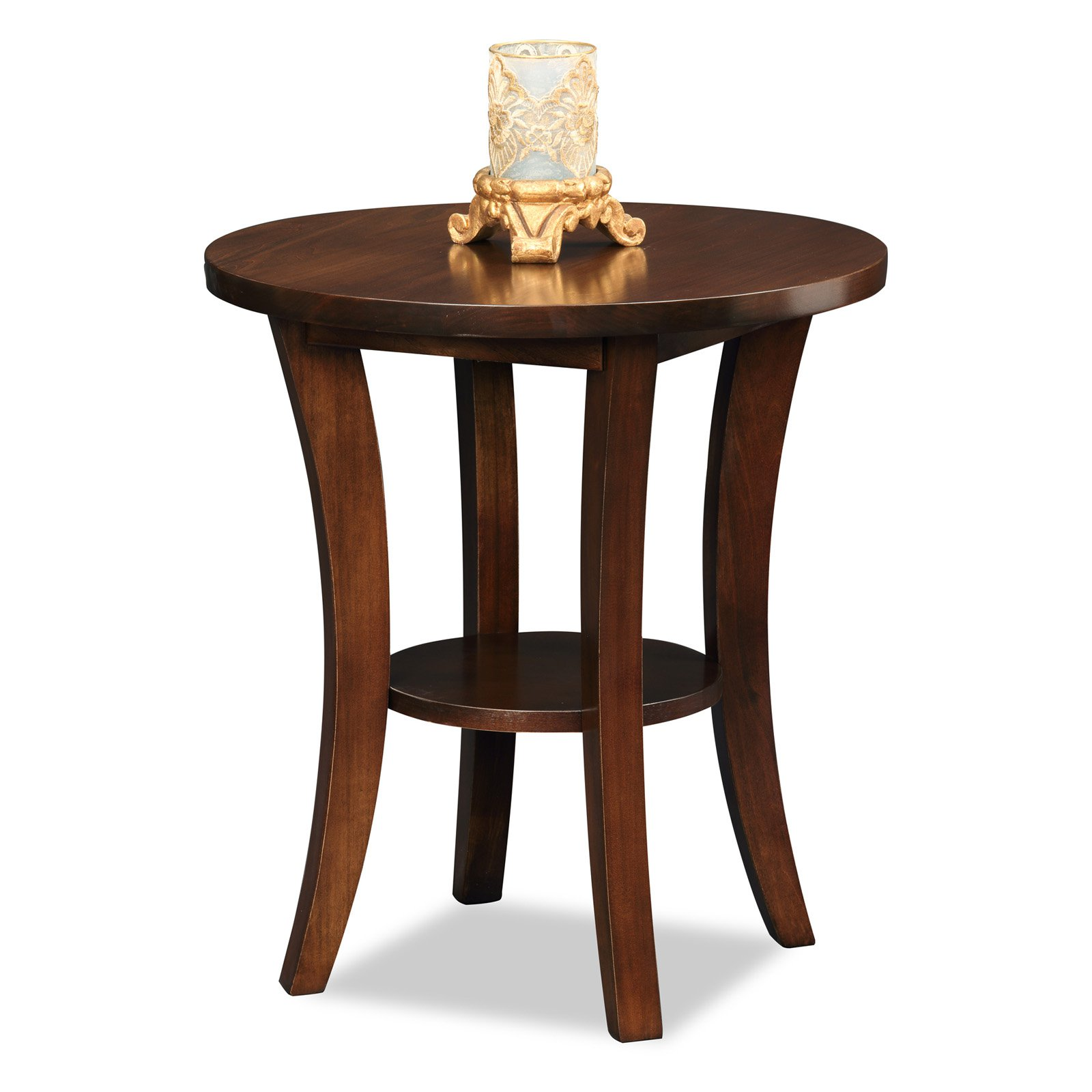 Leick Furniture Boa Round Side Table by Leick Furniture