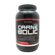 Ultimate Nutrition Carnebolic Beef Protein Isolate Powder with 0 Carbs 0 Sugar and 0 Fat, Fruit Punch, 30 Servings
