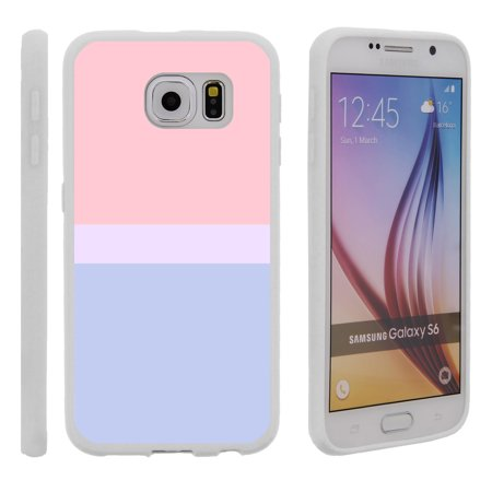 Samsung Galaxy S6 G920, Flexible Case [FLEX FORCE] Slim Durable TPU Sleek Bumper with Unique Designs - Color Block - Sunset (Samsung 4 Door Flex With Family Hub)