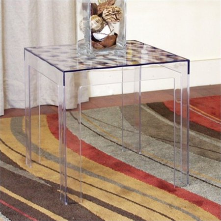 Atlin Designs Square Acrylic End Table (Set of 2)