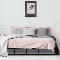 """Gymax 9"""" King Size Bed Frame Low Profile Steel Slat Mattress Home"""