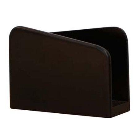 Souvnear 6 Wooden Dark Rich Brown Napkin Holder Decorative Centerpiece Paper Organizer