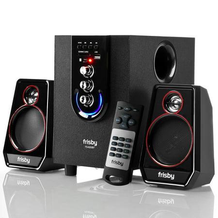 Frisby FS-6200BT Bluetooth Wireless 2.1 CH Media Subwoofer Speaker System w/ Remote (3-Piece)