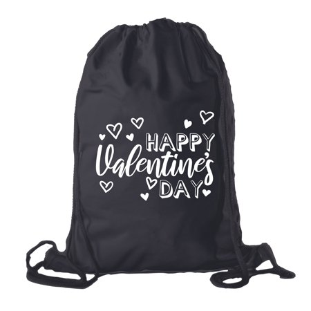Valentine's Day Bags, Cotton Drawstring Cinch Backpacks, Valentines Day Gift (Valentine's Day Gift Bags)