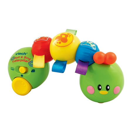 Baby Roll and Sing Caterpillar, Floor toy for babies has three exciting interactive segments for twisting; the baby toys soft satin texture stimulates baby's.., By VTech (Baby Crib And Floor Mirror)