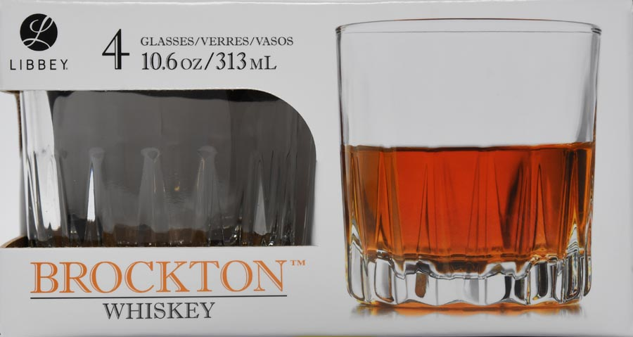 Libbey Glasswares 4 Piece Brockton Double Old Fashioned by Libbey Glass Inc.