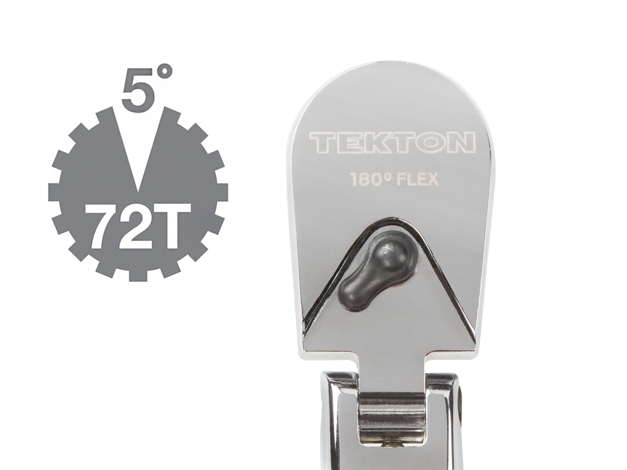 TEKTON 14967 3//8-Inch Drive by 13-Inch Flex Head Bent Handle Ratchet